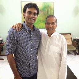 With Padma Shri. Bhavarlal Jain (Bhau), Founder, Gandhi Research Foundation, Jalgaon, India