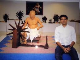 Gandhiji and the Charkha exhibit at GRF, Jalgaon,India (Dec 2013)