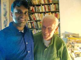 With Prof Dr. Jean Sharp at his Albert Einstein Institution, Boston in May 2012