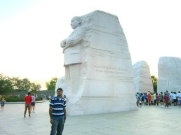 Glimpses of the Martin Luther King Memorial at Washington DC.