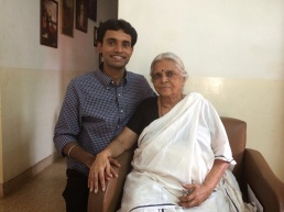 With Padma Shri Sugathakumari; poet,social activist,environmentalist and Gandhian resistor. (Dec '13 at Thiruvananthapuram,India)